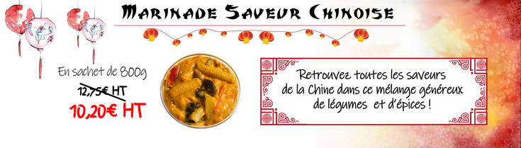 Promotion marinade Chinoise Septembre