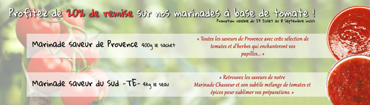 Promotion marinades